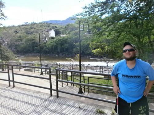Park El Gallineral overlooking the Rio Fonce.