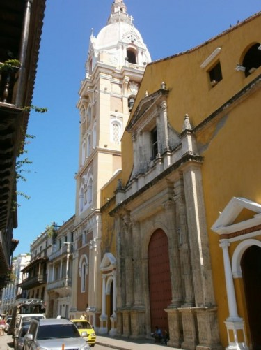 Outside Cartagena Cathedral.