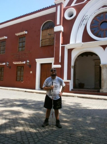Tony outside the former Augustinian Fathers Convent.