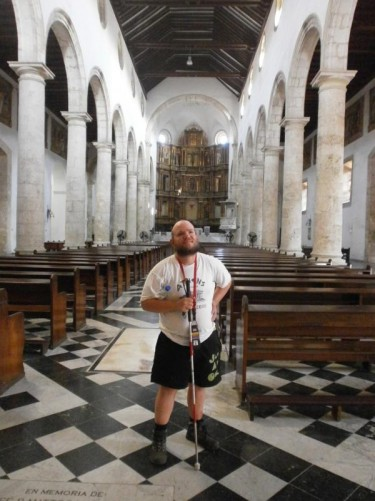 Tony at the end of the central aisle.
