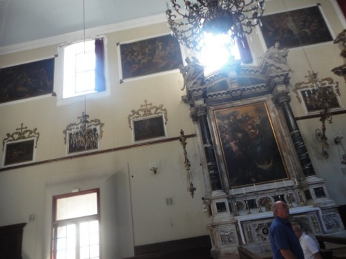 A side altar inside St Savior's Church.