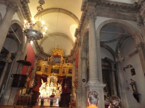 The main altar inside St Blaise's Church.