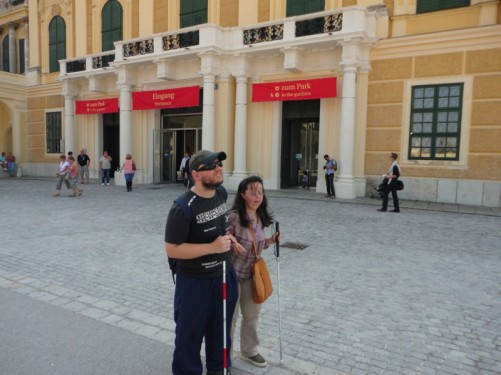 Tony and Tatiana at the entrance.