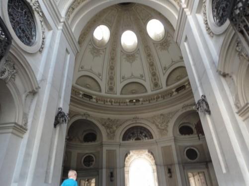 Domed ceiling inside St Michael's Gate.