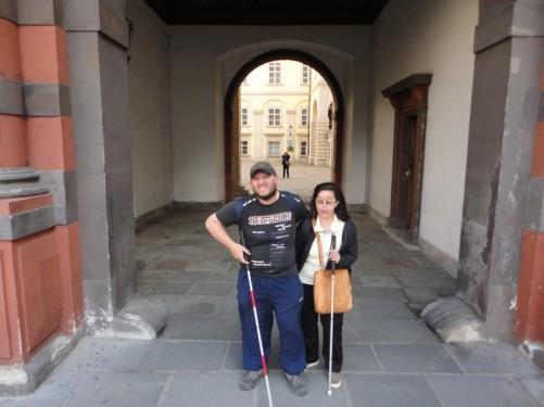 Tony and Tatiana stood in the Swiss Gate.