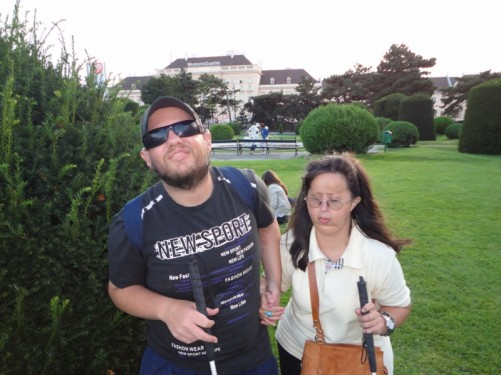 Tony and Tatiana in Maria-Theresien-Platz.