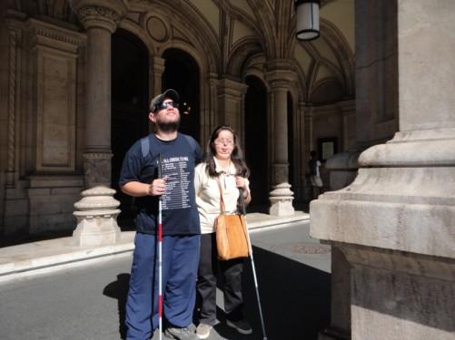 Tony, Tatiana outside the main entrance to the Vienna State Opera.