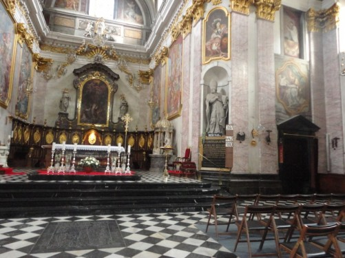 The cathedral's main altar.