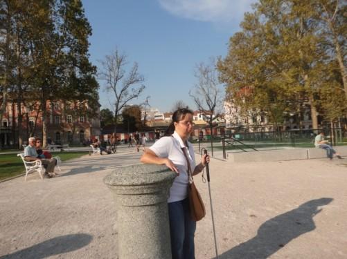 Tatiana in Congress Square.