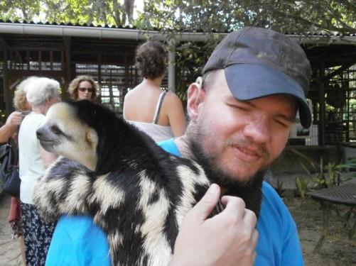 Again Tony holding the sloth.