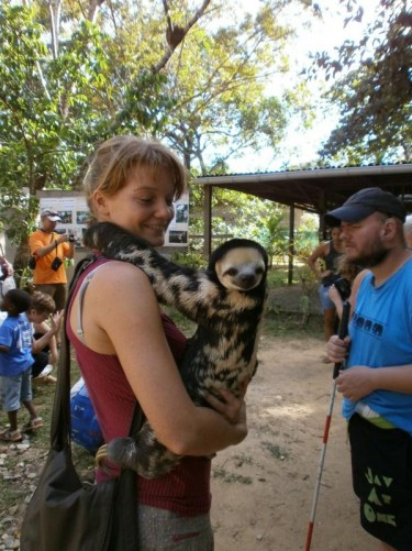 Another shot of Claire and the sloth.