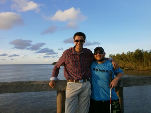 Pierre and Tony on the jetty.