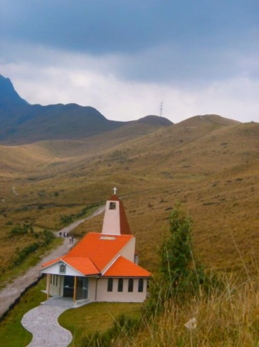 Another view of the church and the landscape beyond.