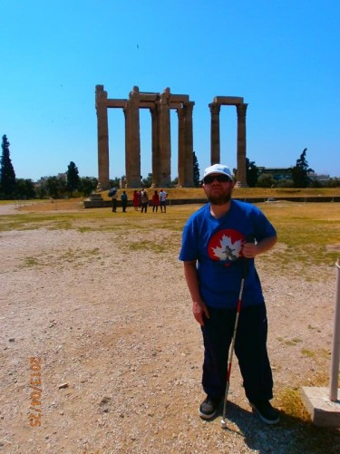 Tony with the Temple of Olympian Zeus in the background.