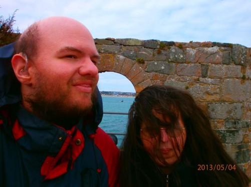 Tony and Tatiana by the outer wall.