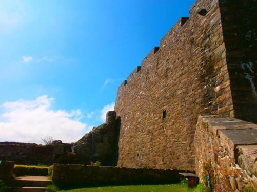 Defensive walls inside the castle.