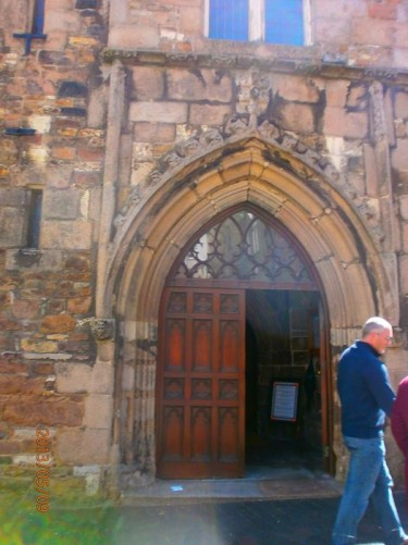 Doorway into the church.