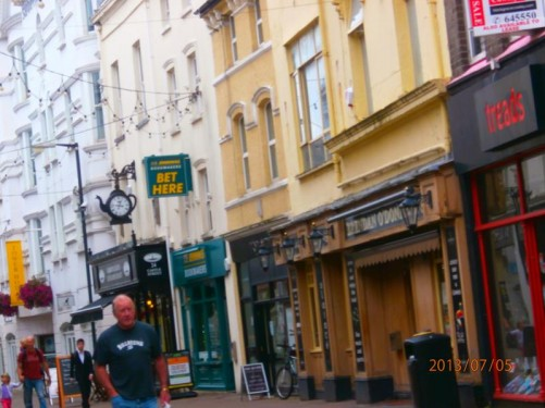 Castle Street. This is one of the main shopping streets in Douglas, the Isle of Man's capital.
