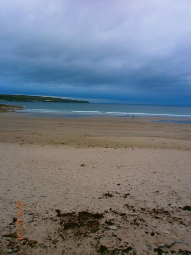 The sandy beach at Thurso.