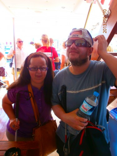 Tatiana and Tony on-board the cruise boat.