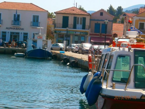 The harbour at Vathy. The boat stopped here for lunch.