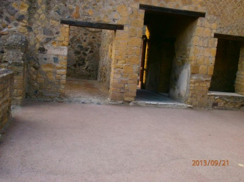 Interior walls and doorways. House of the Skeleton.