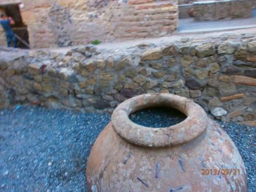 A Roman terracotta jar.