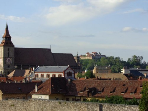 View over the roofs of the old town looking towards the Black Church.