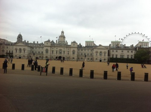 Another view of Horse Guards Parade. For much of the late 20th century, it was used as a car park for senior civil servants, but since the late 90s it has functioned as a public open space.