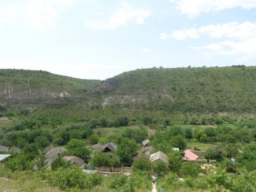 A view of Butuceni village from near St Maria Church.