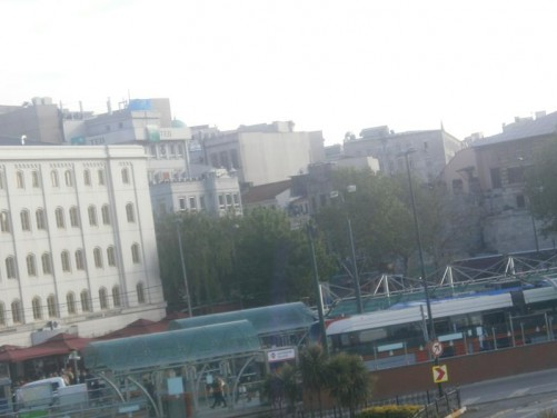 Buildings on the slope up into the centre of the old city (Sultanahmet).