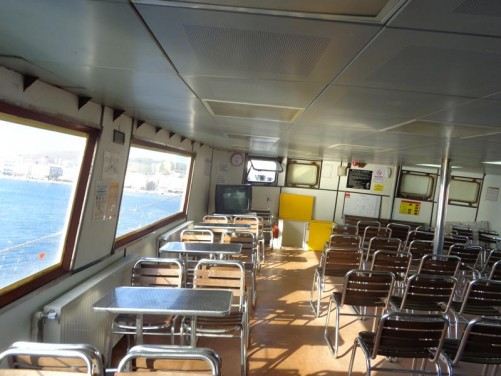 On a ferry heading from the Greek island of Chios to Çesme on the mainland of Turkey.