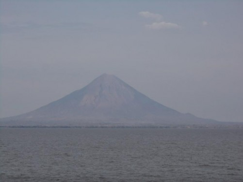 Looking towards Concepción volcano rising to 1600 metres. In shape it is a symmetrical cone with the crater visible at the top. Unlike Madera, which is dormant, Concepción is still active and has erupted at least 25 times since 1883.