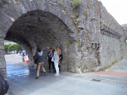 Looking through the Spanish Arch, one of two remaining arches through the Ceann an Bhalla (