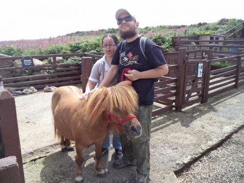Tony and Tatiana with a pony.