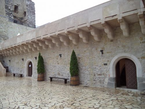 The lower courtyard.