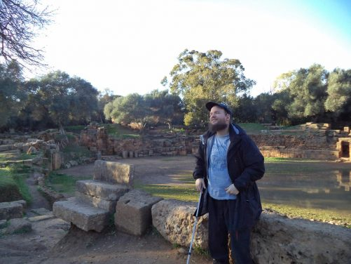 A view of the opposite side of the amphitheatre. Tony in the foreground.