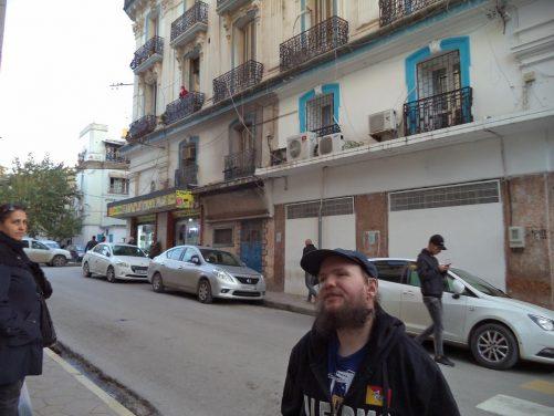 Tony in a street close to Place de la Révolution.