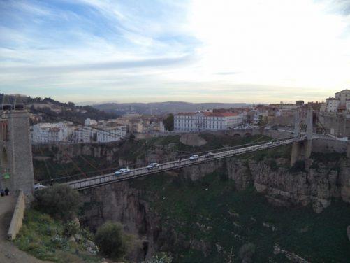 The Sidi M'Cid Bridge, a road suspension bridge with a length of 168 metres, built in 1912.