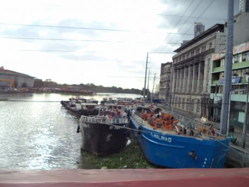 View from Jones Bridge which spans the Pasig River from east of Intramuros over to Binondo district, which is known as Manila's Chinatown.