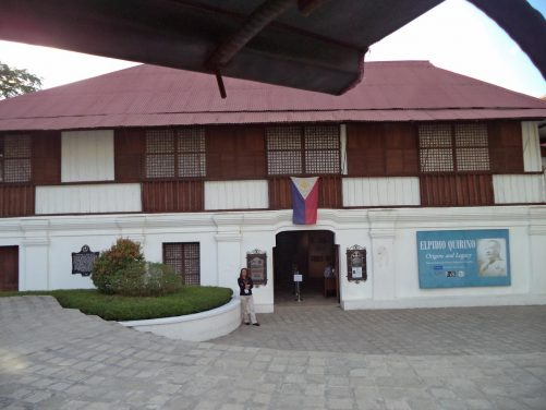 Outside the Padre Burgos National Museum. This two-storey building dates from 1788 and was the birthplace of Father José Burgos, one of three martyr priests executed by the Spanish in 1872. It became a museum in 1989. Its collections include memorabilia of Father Burgos and his family, as well as archaeological and ethnographic artefacts from the Ilocos Sur region.
