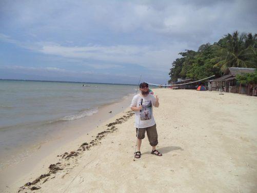 Tony on White Beach.