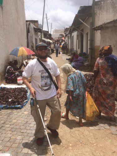 Tony near to the big market.