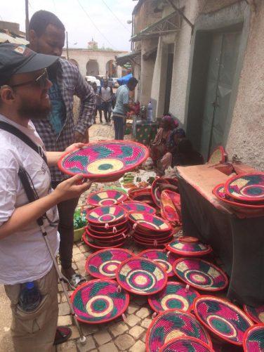 Tony in Mekina Girgir, a street famous for its tailors.