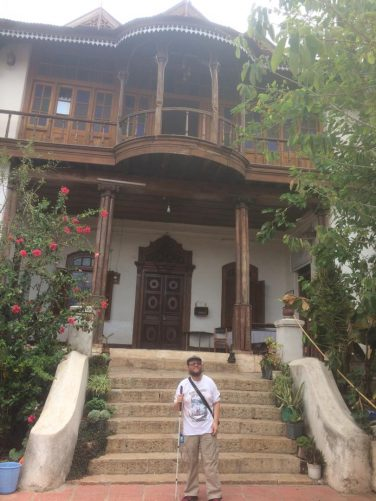 Tony outside the Sherif Harar City Museum. The house is believed to have hosted the honeymoon of Haile Selassie and his wife Menen Asfaw, hence the house is also known as Ras Tafari's House, which is Haile Selassie's pre-coronation name.  Haile Selassie was regent of Ethiopia from 1916 to 1930 and emperor from 1930 to 1974.